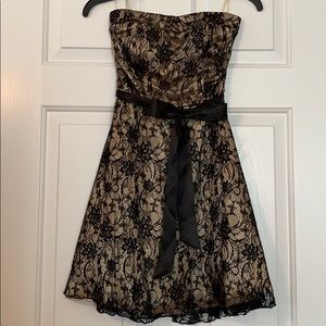 Strapless fit and flare dress